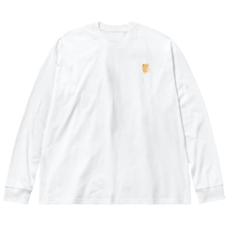 ヤッホーくん きいろ Big silhouette long sleeve T-shirts
