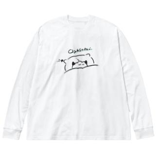 oyasumi Big silhouette long sleeve T-shirts