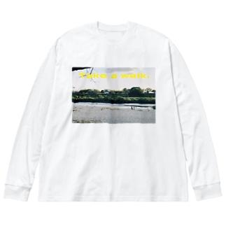 Take a walk Big silhouette long sleeve T-shirts
