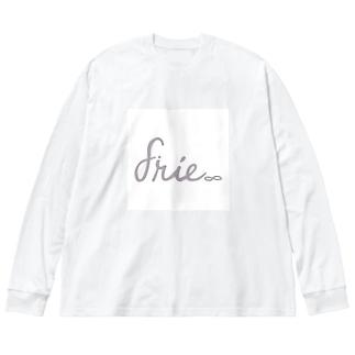 【3色】gray logo square Big Long Sleeve T-shirt