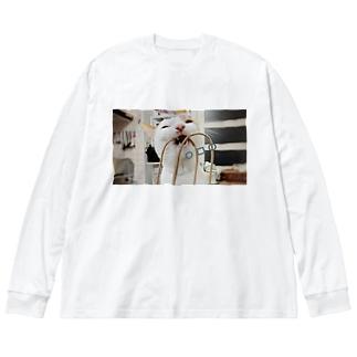 田中雨緒・ω・噛む Big silhouette long sleeve T-shirts