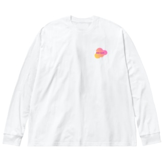 GAL TALK ロゴ Big silhouette long sleeve T-shirts