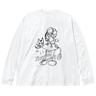 The  GIRL keiko kurita Big silhouette long sleeve T-shirts