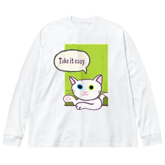 Take it easy Big silhouette long sleeve T-shirts