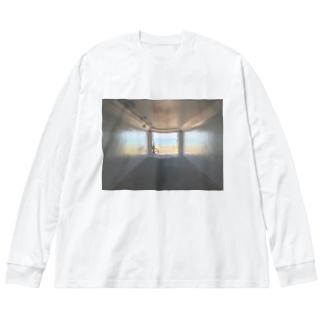 癒しの風景(海への入口) Big silhouette long sleeve T-shirts