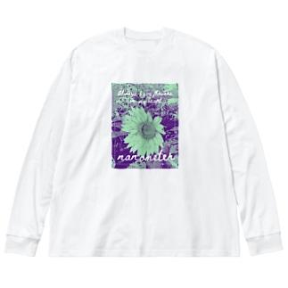 nanometer『いつも心に花を』ビックシルエットロングTシャツ Big silhouette long sleeve T-shirts