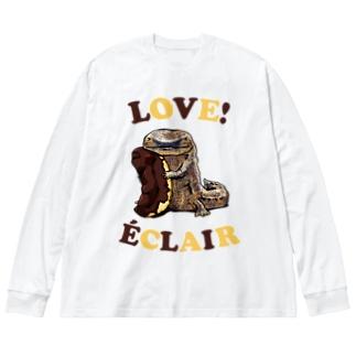 オオサンショウウオとエクレア Big Silhouette Long Sleeve T-Shirt