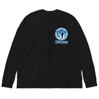 SAUNAZOMBIES -37LOGO & TOTONOI SKELETON LONGSLEEVE BIG T - Big silhouette long sleeve T-shirts