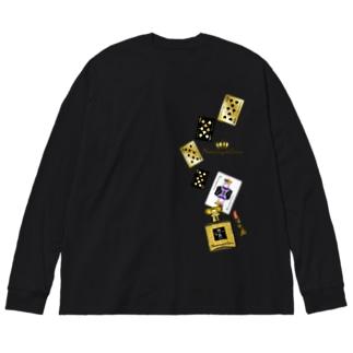 アンドアイデザイン 数秘&カラー🄬オマージュボトルNo8&GOLD Big silhouette long sleeve T-shirts