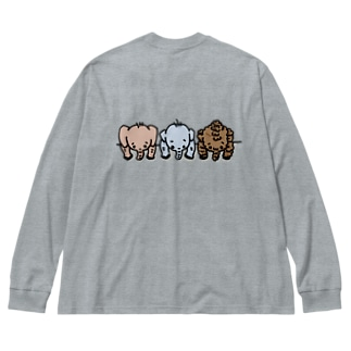 paopao in my pocket Big silhouette long sleeve T-shirts