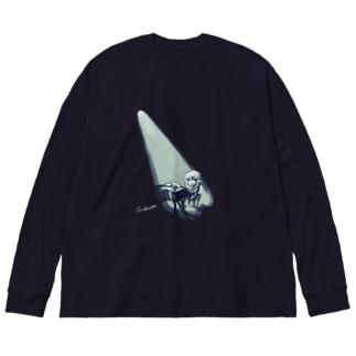 ピアノとマトン Big silhouette long sleeve T-shirts