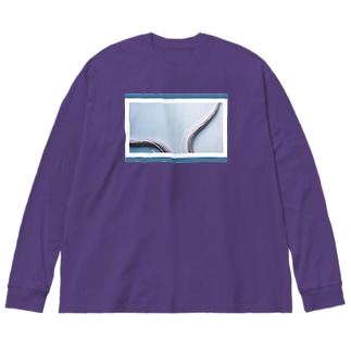 snake line Big silhouette long sleeve T-shirts