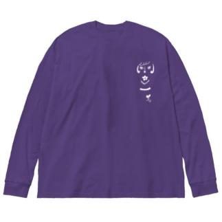 こけしB Big silhouette long sleeve T-shirts
