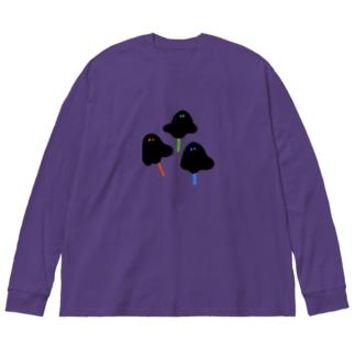 おばけキャンディ Big silhouette long sleeve T-shirts