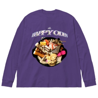 happy oden Big silhouette long sleeve T-shirts