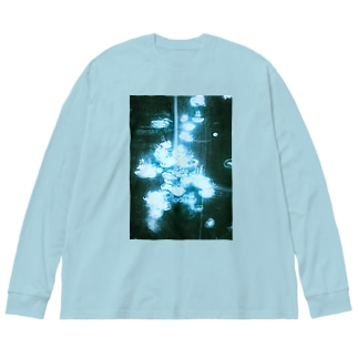 海月 Big silhouette long sleeve T-shirts
