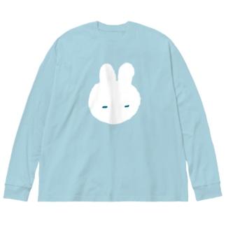 うとうとうさぎ Big silhouette long sleeve T-shirts