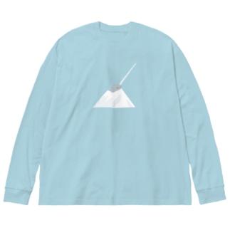氷山の一角 Big silhouette long sleeve T-shirts