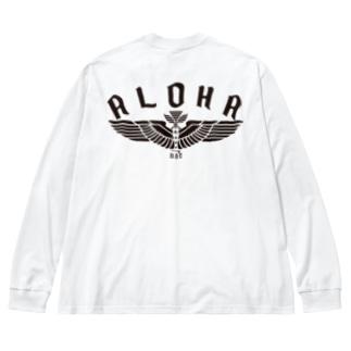 〔Back Print〕Aloha Wing Big silhouette long sleeve T-shirts