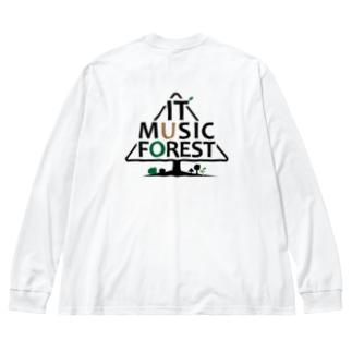 IT MUSIC FOREST チャリティーグッズ Big silhouette long sleeve T-shirts
