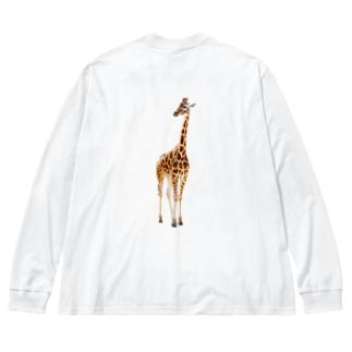 キリン / giraffe Big Silhouette Long Sleeve T-Shirt