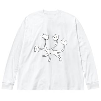 くびネッコ(喜怒哀楽) Big Silhouette Long Sleeve T-Shirt
