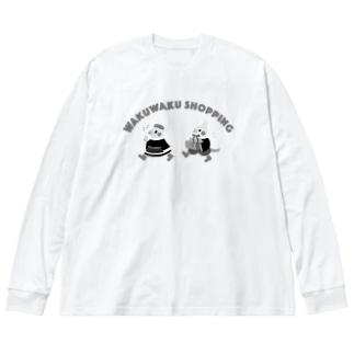 ショッピングオカメインコ Big silhouette long sleeve T-shirts