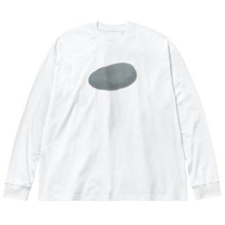 石 Big silhouette long sleeve T-shirts