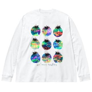ギャラクシーフルーツ Big silhouette long sleeve T-shirts