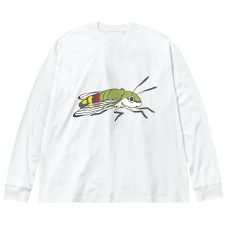 起きるオオスカシバ Big silhouette long sleeve T-shirts