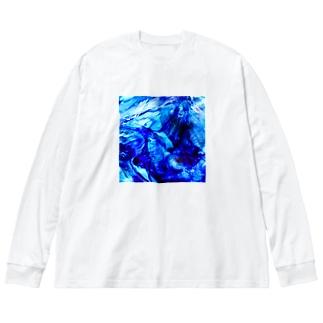 ガラスの記憶 -yuragi- Big silhouette long sleeve T-shirts