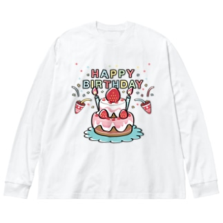 CT61HAPPY BRITHDAY  Big silhouette long sleeve T-shirts