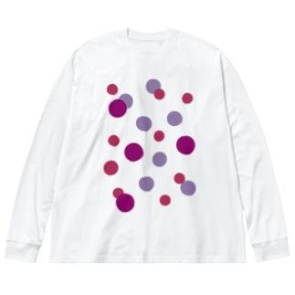 ぶどうの水玉 Big silhouette long sleeve T-shirts