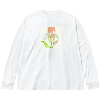 アイリス Big silhouette long sleeve T-shirts