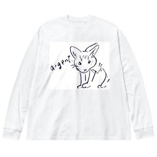 アルジャン Big silhouette long sleeve T-shirts
