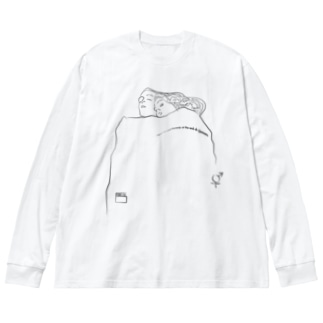 [Humanity and honesty] Big silhouette long sleeve T-shirts