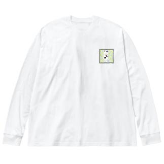 ドットネコ。ハル。 Big silhouette long sleeve T-shirts