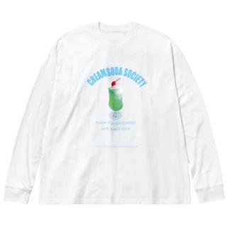 クリームソーダソサエティ Big silhouette long sleeve T-shirts