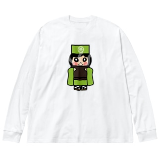 お茶子ちゃん Big silhouette long sleeve T-shirts