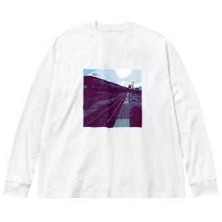 線路は続くよどこまでも Big Long Sleeve T-shirt