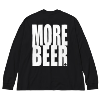 ビアモット! (black body) Big silhouette long sleeve T-shirts