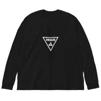 ▶▶DEGU▶BLACK  デグー Big silhouette long sleeve T-shirts