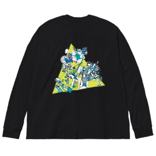 群像 Big silhouette long sleeve T-shirts