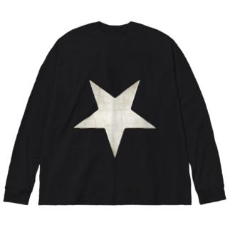 Inverted Blurstar Big silhouette long sleeve T-shirts