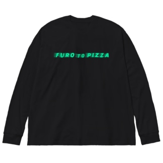 FURO to PIZZA Big silhouette long sleeve T-shirts