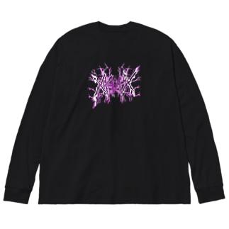 【X Thunder LŌGO X】 PURPLEVer. Big silhouette long sleeve T-shirts