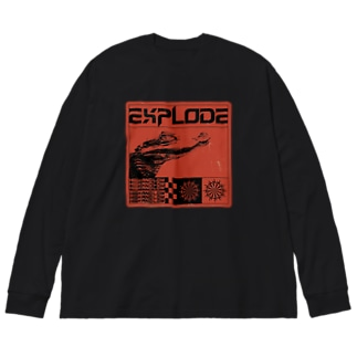 EXPLODE Big silhouette long sleeve T-shirts
