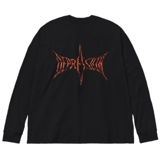 DEPRSSION Big silhouette long sleeve T-shirts