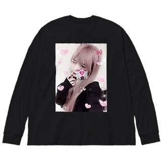 p!nk Big silhouette long sleeve T-shirts