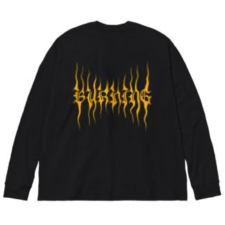 YuukingStoreのBURNING Big silhouette long sleeve T-shirts